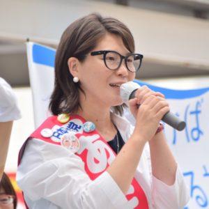 「戦争する日本にしないため、人生すべてをかける」あさか由香、市民が応援演説