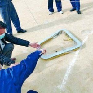 7日、沖縄県の保育園に米軍ヘリCH53の部品が落下。