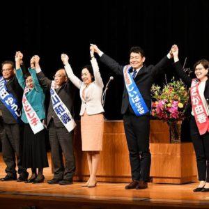 平塚市での演説会