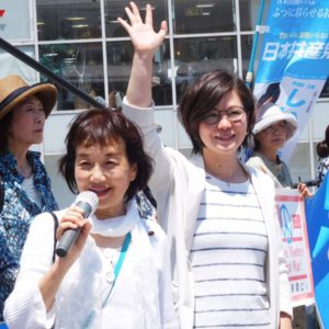 横須賀中央駅での街頭宣伝